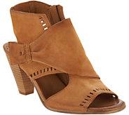 Miz Mooz Leather Peep-Toe Heeled Sandals - Moonlight - A304346