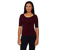 Legacy Slim Disguise Shaper Tee with 3/4 Sleeves - A214247