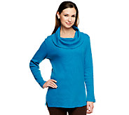 Denim & Co. Long Sleeve Cowl Neck Thermal Tunic - A218947