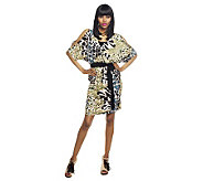 M by Marc Bouwer Animal Print Cold Shoulder Dress - A231347