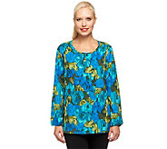 Liz Claiborne New York Long Sleeve Printed Blouse - A237747