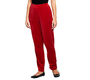 Denim & Co. Active Velour Pull-On Pants with Pockets - A238347