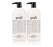 philosophy super-size pure grace lotion 32 oz. duo - A255447