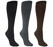 Legacy Mens Graduated Compression Dress Socks 3 pairs - A258447