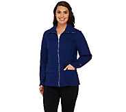 Denim & Co. Active Golf Ripstop Zip Front Jacket - A263647