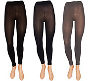 Legacy Set of 3 Ankle or Capri Footless Tights - A263747