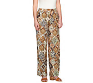 Denim & Co. Beach Ikat Printed Jersey Pants - A264847
