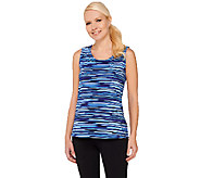 Denim & Co. Active Duo-Stretch Printed Tank w/ Princess Seams - A265647