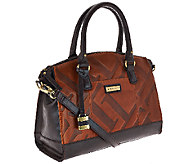 Tignanello Glazed Vintage Embossed Leather Zip Top Satchel - A269247