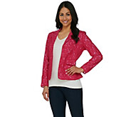 Kelly by Clinton Kelly Lace Jacket with Gingham Lining - A276347