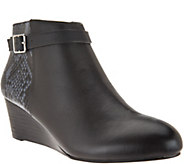 Vionic Orthotic Leather Wedge Boots - Shasta - A279947