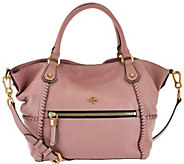As Is orYANY Pebble Leather Satchel - Drew - A280247