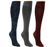 Legacy Patterned Graduated Compression Socks 3 Pack - A281547