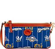 Dooney & Bourke MLB Nylon Brewers Large Slim Wristlet - A281647