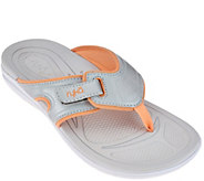 As Is Ryka Sport Thong Sandals with CSS Technology - Shimmy - A283947