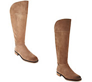 Franco Sarto Suede Medium or Wide Calf Boots - Christine - A284347