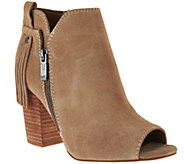 As Is Marc Fisher Suede Ankle Boots w/ Fringe Detail - Novice - A289147