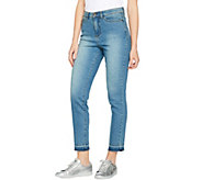 Studio by Denim & Co. Ankle Jeans with Undone Hem Detail - A290547