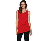 Susan Graver Liquid Knit Asymmetrical Tiered Tank - A290747