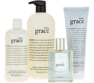 philosophy grace, love & glisten 4pc fragrance kit - A293747