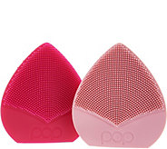 Pop Sonic Set of 2 Bud Travel Sonic Facial Cleansing Devices - A298547