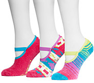MUK LUKS Womens Aloe Mary Janes 3-Pair Sock Pack - A335347