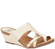 Sofft Leather Wedge Sandals - Vivi - A336147