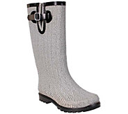 Nomad Puddles Rubber Rain Boots - Herringbone - A337847