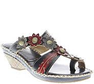 Spring Step LArtiste Leather Slide Sandals - Peeps - A339647