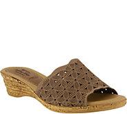 Spring Step Leather Slide Sandals - Sheron - A364047