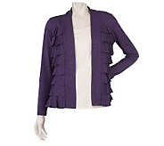M by Marc Bouwer Open Front Ruffle Detail Cardigan - A210848