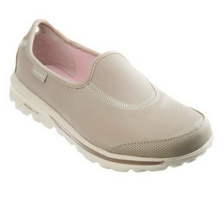 Skechers Gowalk Undercover Leather Slip On Shoes