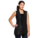 Jennifer Hudson Collection Vest with Sheer Inset Detail - A232948