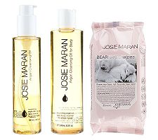 Josie Maran Argan Oil Love Your Skin Face & Body Cleansing Trio Health Fitness Skin Care Beauty Supply Deals