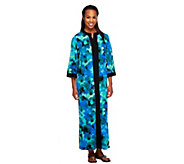 Joan Rivers Regular Floral Print Jersey Lounger with Zip Front - A252748