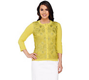 Isaac Mizrahi Live! Special Edition Embellished Cardigan - A262848
