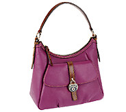 As Is Dooney & Bourke Samba Leather Belted Hobo - A262948
