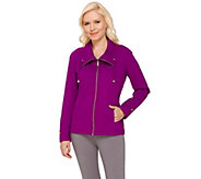 Denim & Co. Active French Terry Jacket with Mesh Collar - A266248