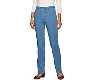 Isaac Mizrahi Live! Tall 24/7 Denim Straight Leg Pants - A266948