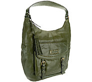 Tignanello Distressed Vintage Leather Hobo with Buckle Accents - A269248