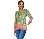 Isaac Mizrahi Live! Engineered Paisley Cardigan - A278248