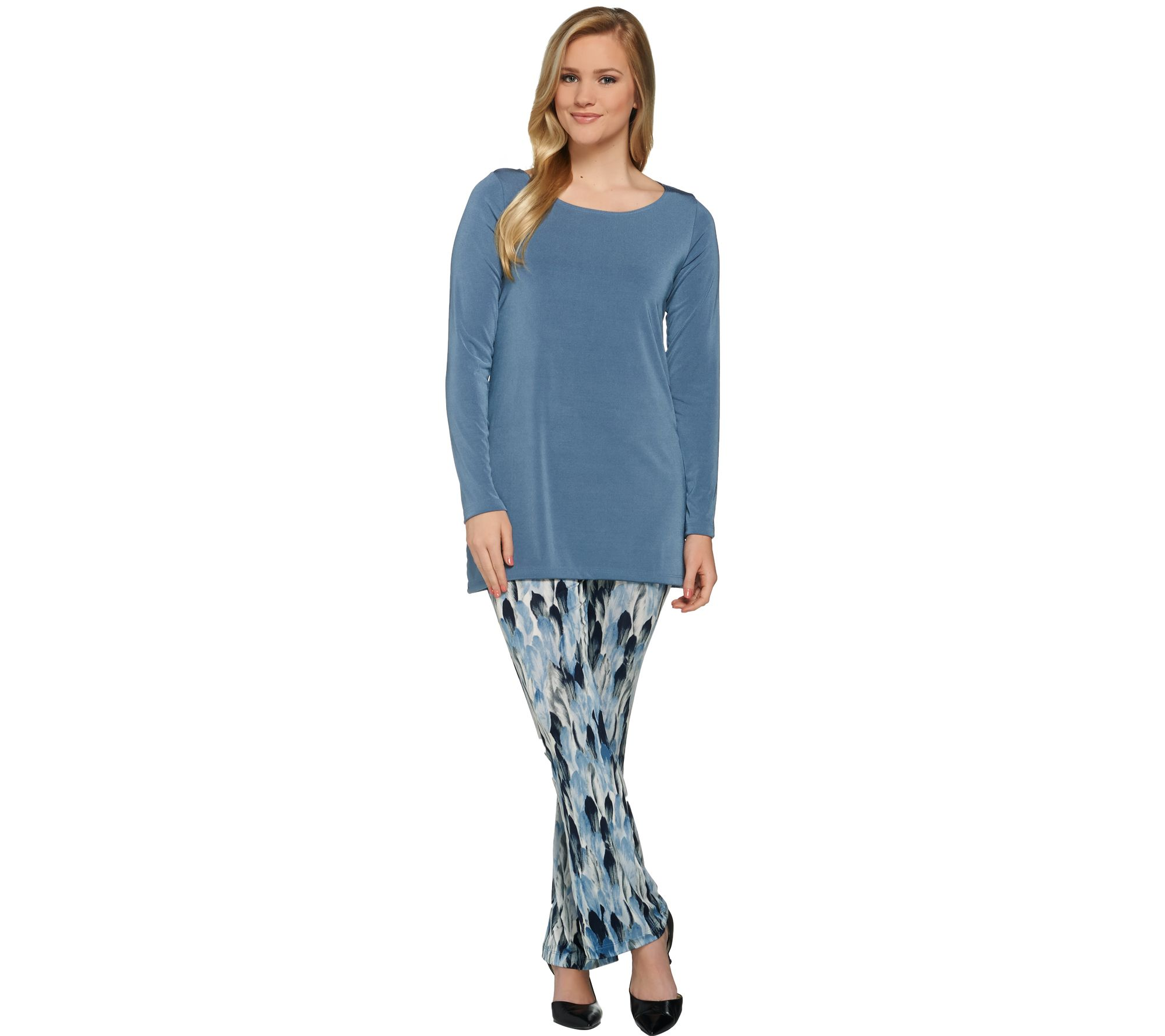 Attitudes by Renee Radiant Knit Tunic and Pants Set