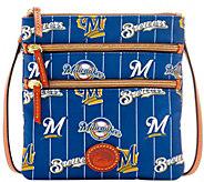 Dooney & Bourke MLB Nylon Brewers Triple Zip Crossbody - A281548