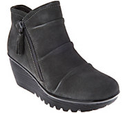 Skechers Ruched Suede Wedge Boots - Parallel Universe - A282748
