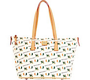 Dooney & Bourke NCAA University of Miami Zip Top Shopper - A283248