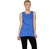 H by Halston Sleeveless Printed Tunic with Hi-Low Hem - A286648