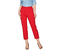 Susan Graver Regular Ultra Stretch Pull-On Crop Pants - A288148