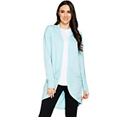 AnyBody Loungewear Cozy Knit Drape Front Jacket - A290148