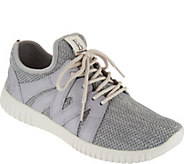 ED Ellen DeGeneres Knit & Leather Sneakers - Havala - A291048