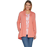 Susan Graver Weekend Cotton Modal Cardigan and Tank Set - A301148